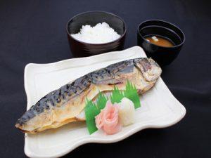 大洗の干物定食(サバ)