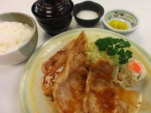 霜降高原豚生姜焼き定食