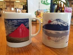 富士山色変わりマグカップ